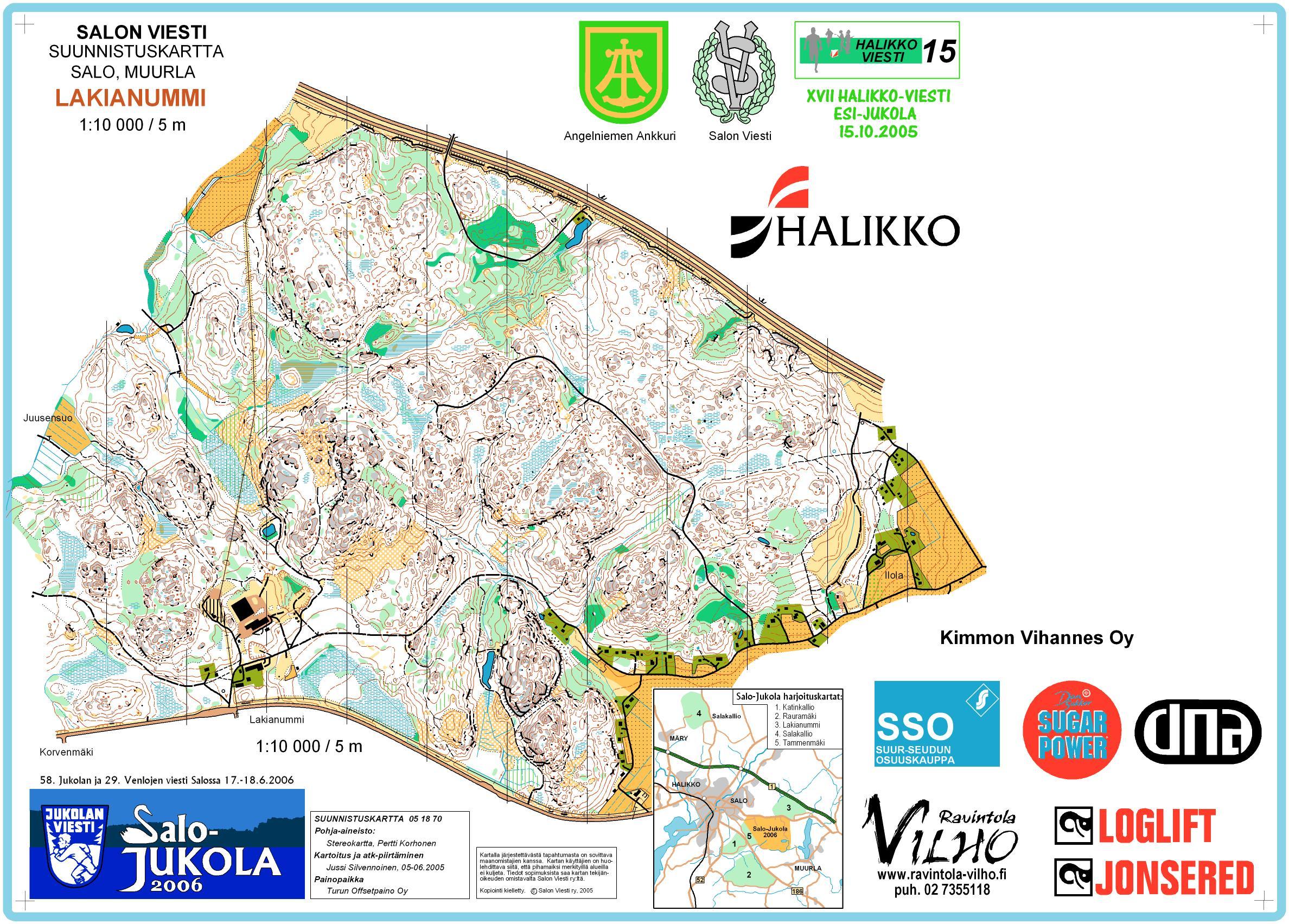 2005 10 15 Halikko Viesti Esi Jukola 2005