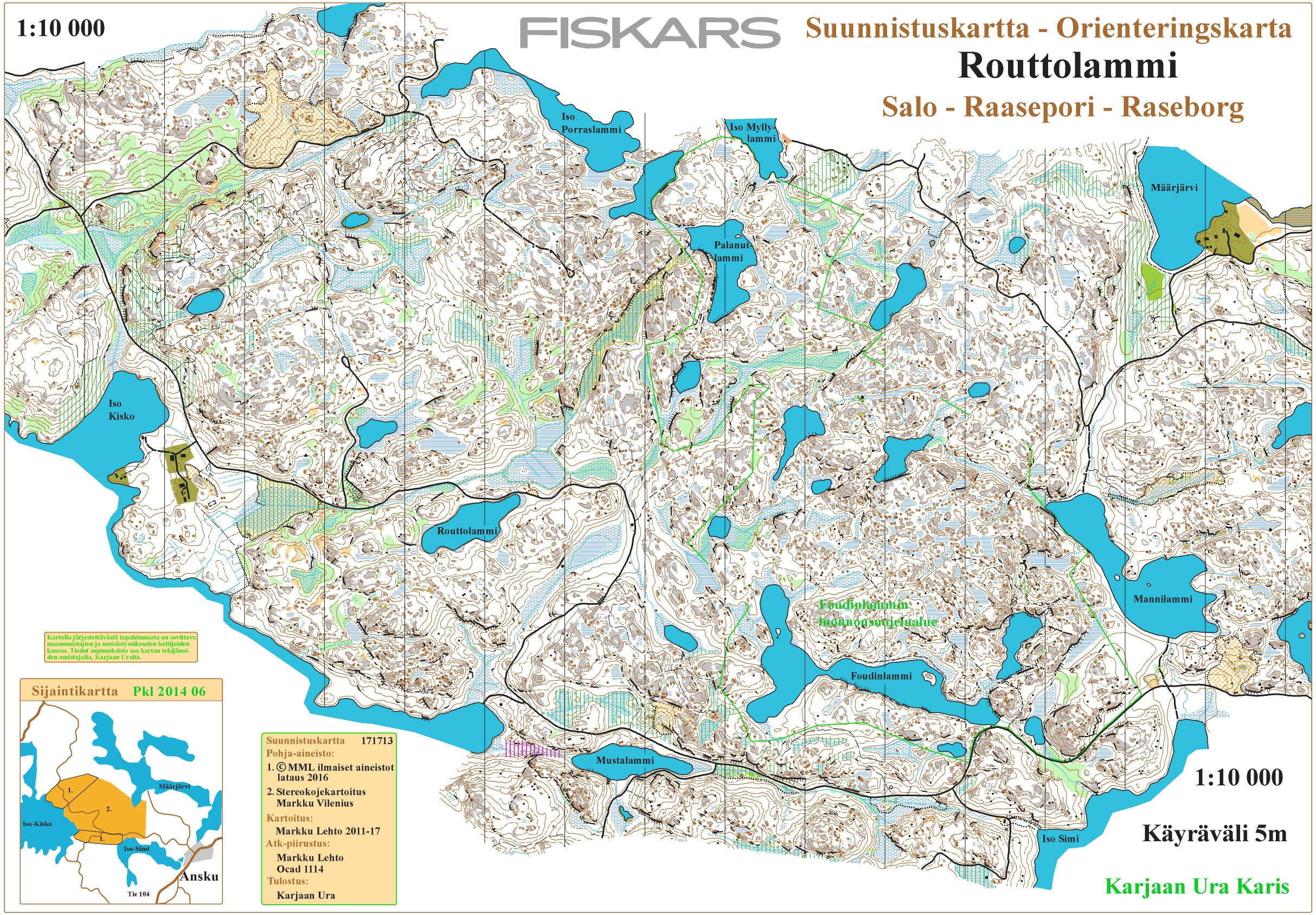 Karjaarastit Antskogissa July 1st 2017 Orienteering Map from